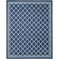 Safavieh Amherst Quine 10-Foot x 14-Foot Indoor/Outdoor Area Rug in Navy/Beige