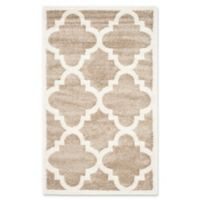 Safavieh Amherst Geo 3-Foot x 5-Foot Indoor/Outdoor Area Rug in Wheat/Beige