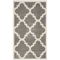 Safavieh Amherst Geo 4-Foot x 6-Foot Indoor/Outdoor Area Rug in Dark Grey/Beige