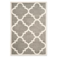 Safavieh Amherst Geo 5-Foot x 8-Foot Indoor/Outdoor Area Rug in Dark Grey/Beige