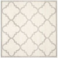 Safavieh Amherst Geo 7-Foot Square Indoor/Outdoor Area Rug in Beige/Light Grey