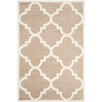 Safavieh Amherst Geo 6-Foot x 9-Foot Indoor/Outdoor Area Rug in Wheat/Beige
