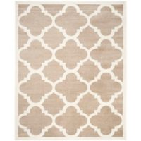 Safavieh Amherst Geo 8-Foot x 10-Foot Indoor/Outdoor Area Rug in Wheat/Beige