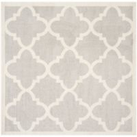 Safavieh Amherst Geo 9-Foot Square Indoor/Outdoor Rug in Light Grey/Beige