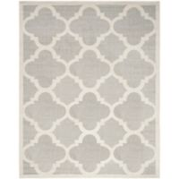 Safavieh Amherst Geo 9-Foot x 12-Foot Indoor/Outdoor 9-Foot x 12-Foot Area Rug in Light Grey/Beige