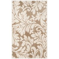 Safavieh Amherst Vinca 2-Foot 6-Inch x 4-Foot Indoor/Outdoor Accent Rug in Wheat/Beige