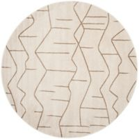 Safavieh Amherst Vinery 7-Foot Round Area Rug in Ivory/Grey