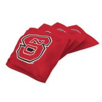 North Carolina State University Cornhole Bean Bags in Red (Set of 4)