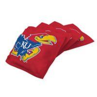 University of Kansas Cornhole Bean Bags in Red (Set of 4)