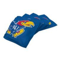 University of Kansas Cornhole Bean Bags in Blue (Set of 4)