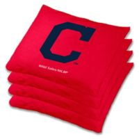 MLB Cleveland Indians Cornhole Bean Bags in Red (Set of 4)