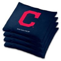MLB Cleveland Indians Cornhole Bean Bags in Blue (Set of 4)