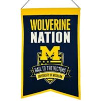 "University of Michigan ""Wolverine Nation"" Banner"