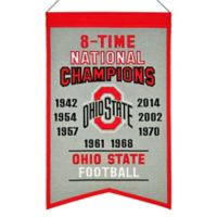 """Ohio State University """"8-Time National Champions"""" Banner"""