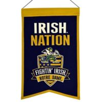 "University of Notre Dame ""Irish Nation"" Banner"