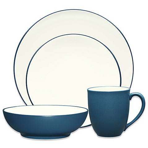 image of Noritake® Colorwave Coupe 4-Piece Place Setting in Blue