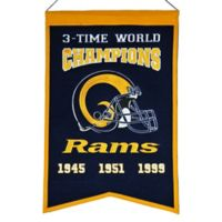 NFL Los Angeles Rams Super Bowl Championship Banner
