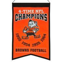NFL Cleveland Browns Super Bowl Championship Banner