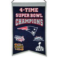NFL New England Patriots 4X Super Bowl Championship Banner