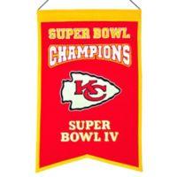 NFL Kansas City Chiefs Super Bowl Championship Banner