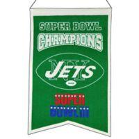 NFL New York Jets Super Bowl Championship Banner