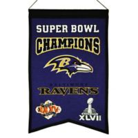 NFL Baltimore Ravens Super Bowl Championship Banner