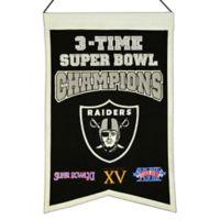 NFL Oakland Raiders 3X Super Bowl Championship Banner