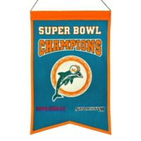 NFL Miami Dolphins Super Bowl Championship Banner