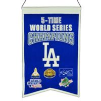 MLB Los Angeles Dodgers 5X World Series Championship Banner