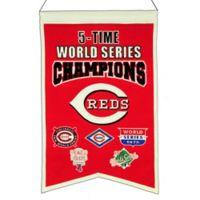 MLB Cincinnati Reds 5X World Series Championship Banner