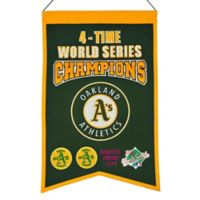 MLB Oakland Athletics 4X World Series Championship Banner