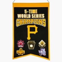 MLB Pittsburgh Pirates 5X World Series Championship Banner