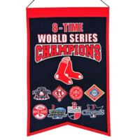 MLB Boston Red Sox 8X World Series Championship Banner