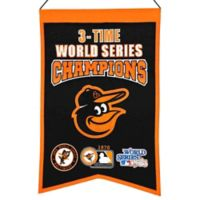 MLB Baltimore Orioles 3X World Series Championship Banner