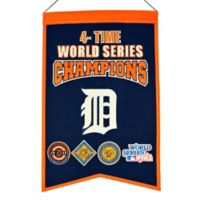 MLB Detroit Tigers 4X World Series Championship Banner