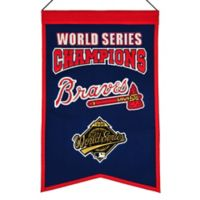 MLB Atlanta Braves World Series Championship Banner