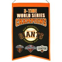 MLB San Francisco Giants 3X World Series Championship Banner