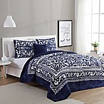 VCNY Eleanor 4-Piece Full/Queen Quilt Set in Navy/White