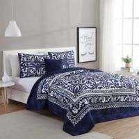 VCNY Eleanor 3-Piece Twin/Twin XL Quilt Set in Navy/White
