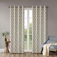 INK+IVY Ivy Ankara 95-Inch Window Curtain Panel in Grey