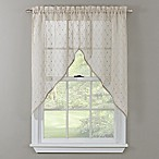 Crystal Brook 38-Inch Window Swag Valance in Ivory