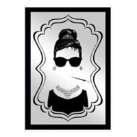 Oliver Gal Small Audrey Framed Printed Mirror Wall Art in Black