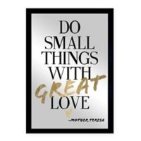 Oliver Gal Small Do Things with Love Framed Printed Wall Art in Black/Gold