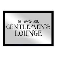 """Oliver Gal Small """"Gentlemen's Lounge"""" Framed Printed Wall Art in Black"""