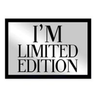 """Oliver Gal Small """"I'm Limited Edition"""" Framed Printed Wall Art in Black"""