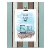 Prinz 4-Inch x 6-Inch Multicolor Plank Picture Frame with Metal Clip