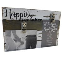 "Sweet Bird & Co. ""Happily Ever After"" 2-Photo Wooden Clip Frame"