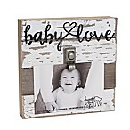 "Sweet Bird & Co. ""Baby Love"" 4-Inch x 6-Inch Wooden Clip Frame"