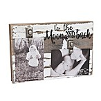 "Sweet Bird & Co. ""To the Moon and Back"" 2-Photo Wooden Clip Frame"