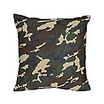 Sweet Jojo Designs Camo Decorative Throw Pillows in Green (Set of 2)